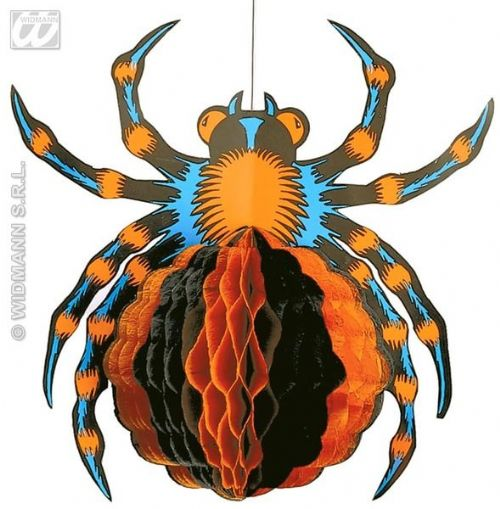 Neon Honeycomb Spiders 30cm Decoration Halloween Trick Or Treat Bugs Party